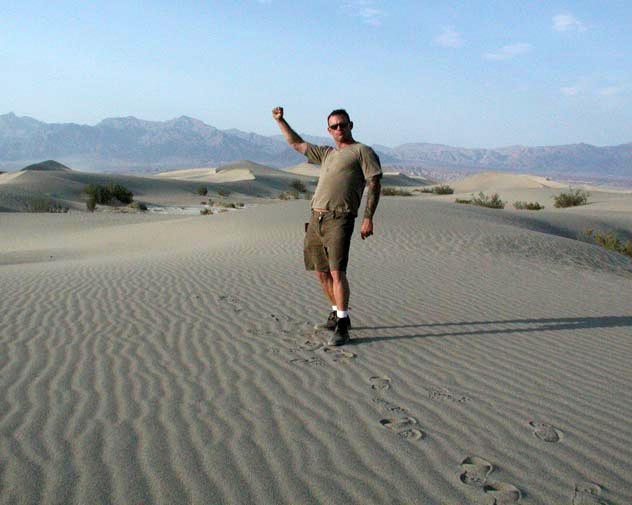 Death Valley Dunes, The week of July 4th, 115 degrees